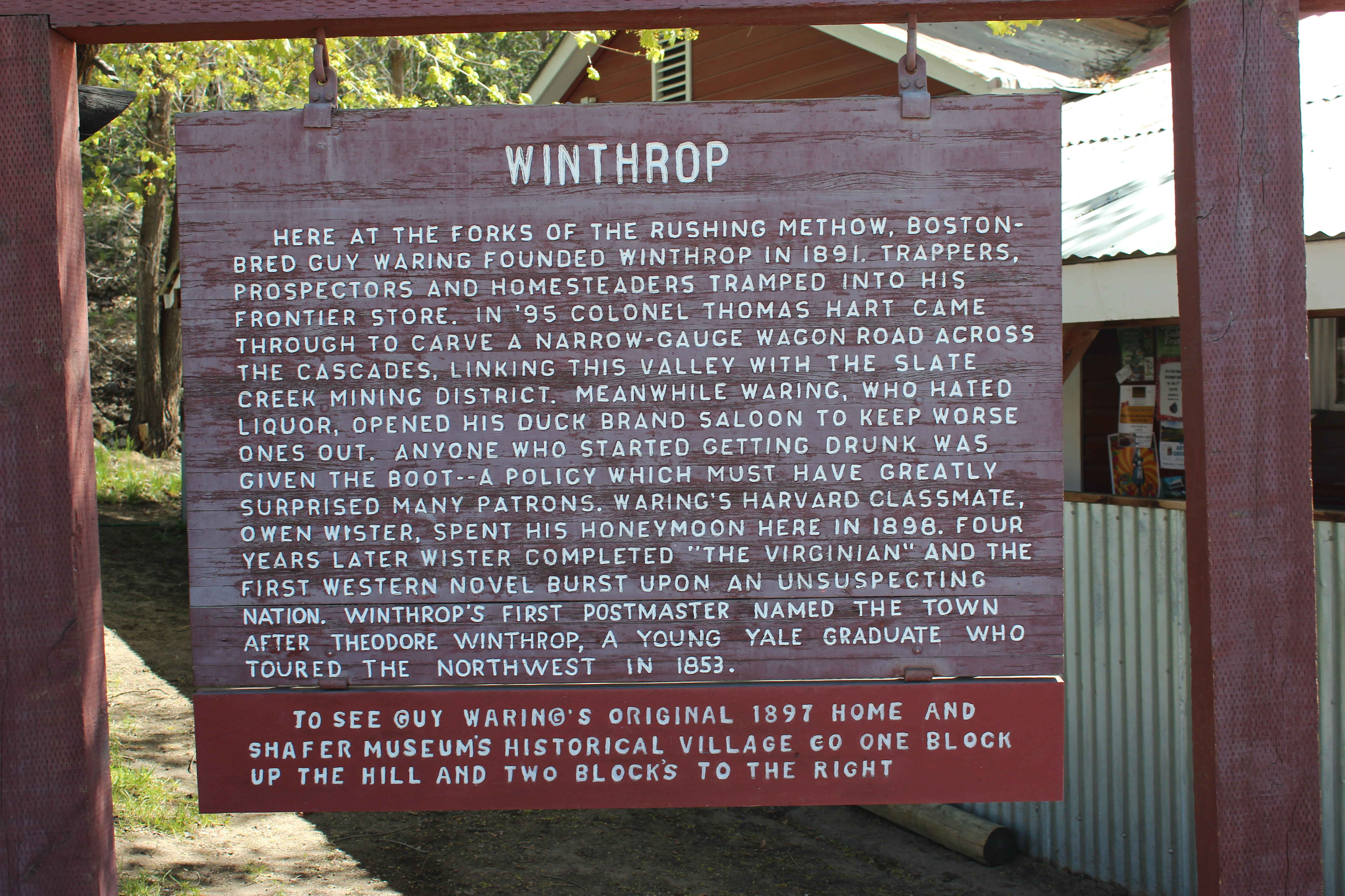 winthrop sign